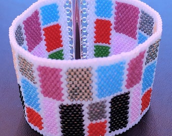 Mondrian style Cuff Bracelet
