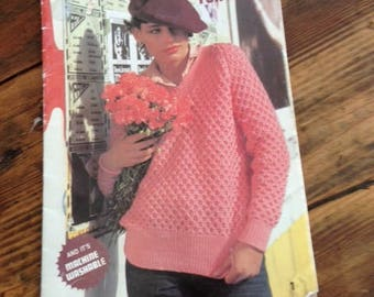 80's knitting pattern book