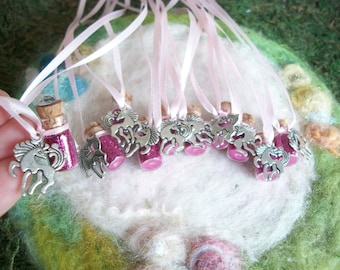 Pink Pony Party Favors Cowboy Cowgirl 10 Sparkling Glitter Necklaces Horse Horseback Horse Show Ranch Farmer