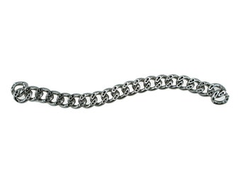 23cm Length - Silver Purse Chain, Replacement Chain, Chain Strap, Chunky Curb Chain, Chain Handle with Clasp, Layered Chain