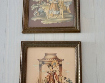 Pair of Framed Asian Pictures