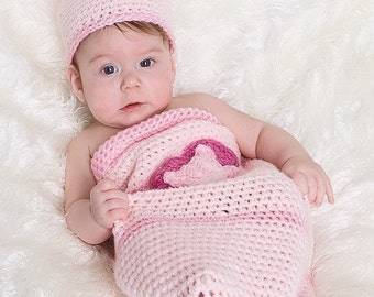 Our Little Love Bug Crochet Pattern Cocoon and Beanie Set PDF 342