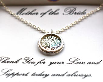 Mother-of-the-Bride Gift, Mother-of-the-Groom Gift, Mother-in-law gift, Mothers necklace, Tree necklace, Wedding gift, Gift-for-mother, Mom