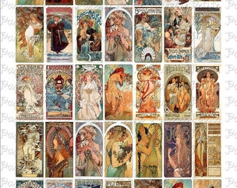 Women of the 1890s Digital Download Collage Sheet 1 x 2