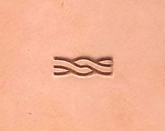 """BW1 Rope Border Stamp 3/8"""" x 3/16"""" (9.5 mm x 4.7 mm) by US Stamps"""