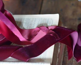 dark burgundy large velvet ribbon