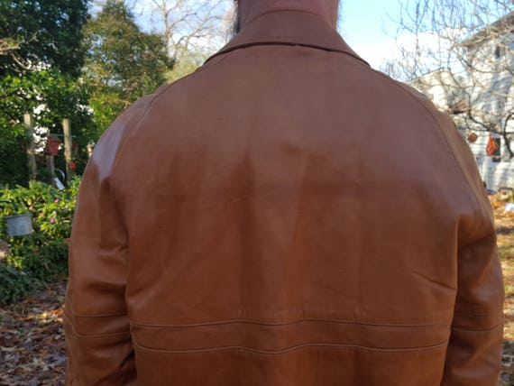 Jacket Leather Fog London Jacket Jacket Mens Jacket 80s 80s Costume Leather L Vintage Brown Jacket Size Brown Jacket Jacket Leather q0qwBIC