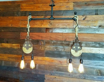 Iron Pipe pulley pendant lights
