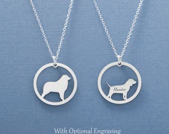 Australian Shepherd Necklace, Australian Animal, Shepherd Necklace, Dog Jewelry, Puppy Necklace