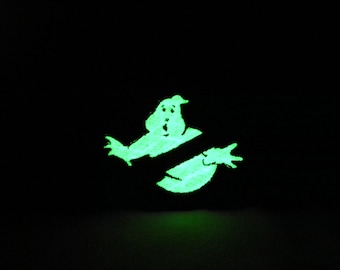 3 inch high Glow in the dark Ghostbusters patch no ghost slimer venkman egon cosplay