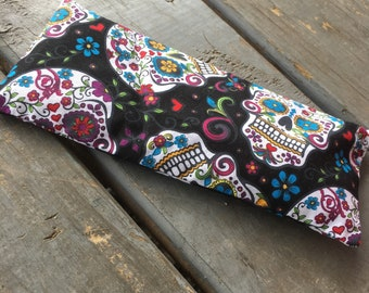 Sugar skull lavender eye pillows