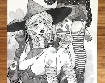 More Inktober Witches
