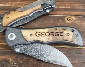 7 Personalized Engraved Knife, Personalized Groomsmen Gift, Groomsman Gift, Wedding Favor, Pocket Knife, Gift for Groomsmen, Groomsman knife