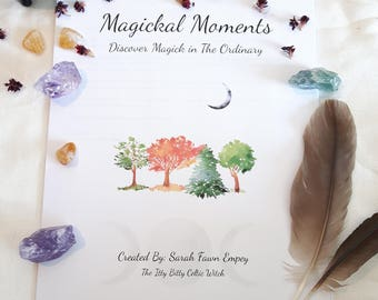 Magickal Moments Printable Workbook | Witchcraft Ecourse | Magick | Workshop | New Age | Pagan | Course | E-Course
