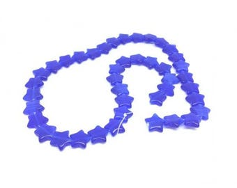 40 stars Blue Cat's eye beads