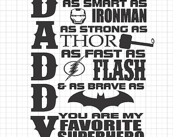 SVG Only, Daddy Superhero SVG, Superhero Daddy SVG, Fathers Day Svg, Superhero Svg, You are my hero svg, Svg Digital Download
