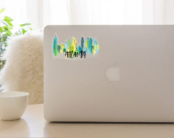 Atlanta Skyline Sticker- Watercolor with Clear Background