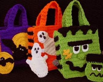 PA996 Halloween Bags With Money Holders Crochet Pattern PDF