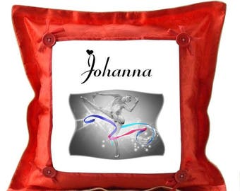 Red cushion dancer personalized with name