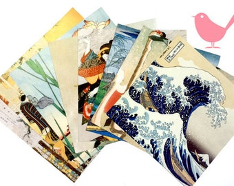 Scrap Pack - Japanese origami paper ephemera, paper scraps Lot 2