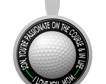 From Mom to Son Necklace - Son You're Passionate On... - Golf Silver Pendant