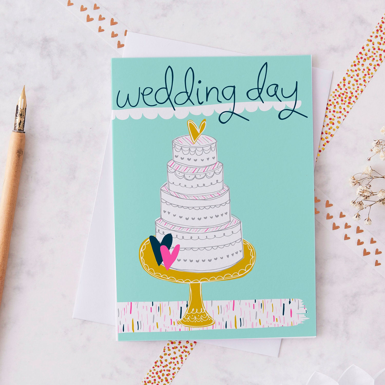 Wedding day greetings card modern wedding card cute wedding description this wedding day card m4hsunfo Choice Image