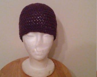 Boysenberry heather hat