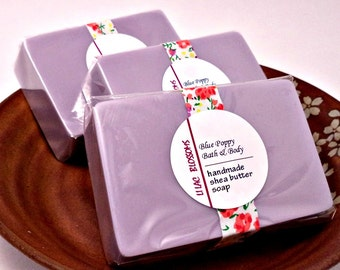 Lilac Blossom Soap, Shea Butter Soap, Lilac Floral Scented, Natural Bar Soap, Soap for Her, Mothers Day Gift, Spring Soap