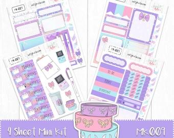 Planner Stickers - Mini Weekly Planner Sticker Kit - Planner Girl Sticker Kit - Erin Condren Planner Stickers - ECLP Stickers