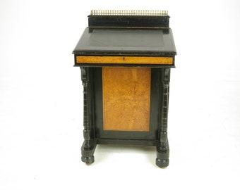 Antique Davenport Desk, Victorian Davenport Desk, Aesthetic Movement, Scotland 1880, B987