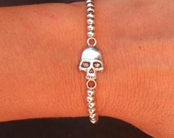 Bracelet skull zamak