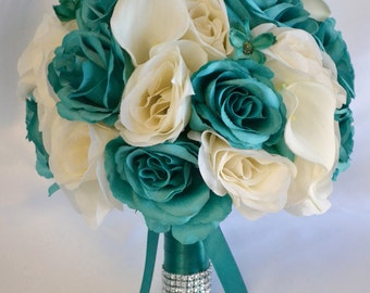 Silk flower bouquet etsy wedding bouquet bridal bouquet bridesmaid bouquet silk flower bouquet wedding flower mightylinksfo