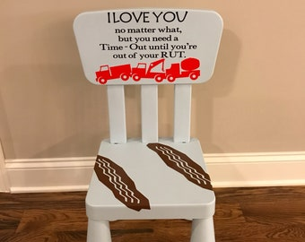 Time out chair vinyl decals