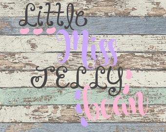 Little Miss Jelly Bean SVG, Jelly Bean, Easter, Miss, Girl