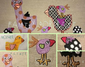 The Easter Birds, 12 Colourful and Whimsical Embroidery Designs to bring Spring in to your home - Very All-yearish and yet also Easterish