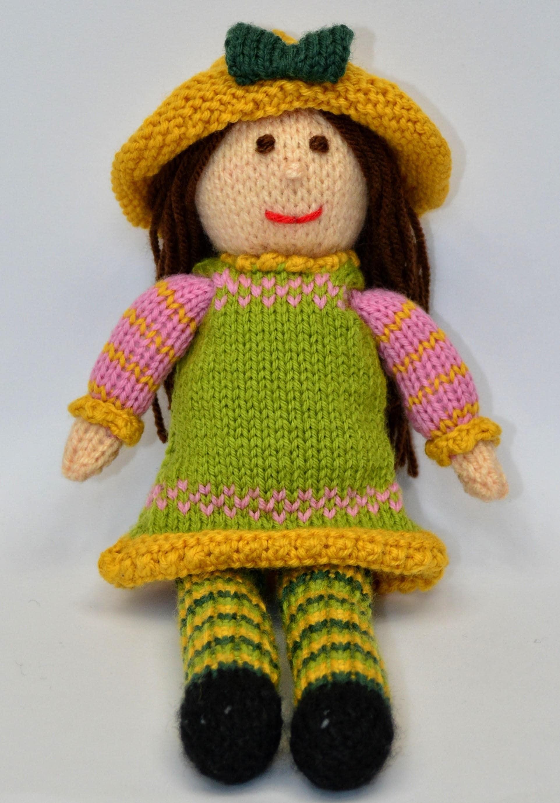 Fancy Knit Doll Pattern Model - Blanket Knitting Pattern Ideas ...