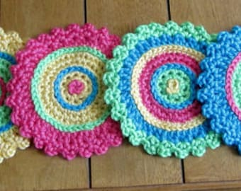 Set of Three PDF Patterns for  Coasters or Doilies