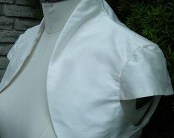 Super Sample Sale Ivory Dupioni cap sleeves bolero