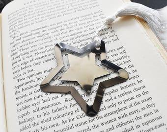 Custom Stamped Star Book Mark- Book Lover Metal Bookmark- Space Astronomer  Gift Stamped Aluminum Metal Bookmark