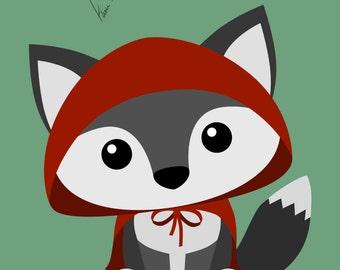Little Red Riding Hood - Medium or Small Art Print