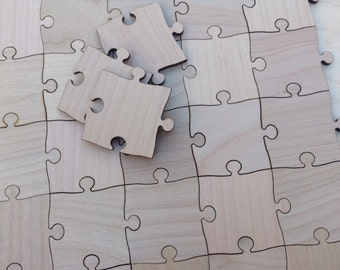 80 Large 2 inch Blank Puzzle Pieces Wedding Guest Book Puzzle/ Birthday/ Anniversary