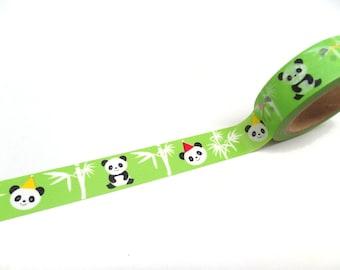 Cute Panda Washi Tape,  15mm x 10m