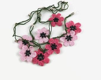 Eye Glass Cord Crochet Eye Glass Cord Eye Glass Chain Crochet Flowers Eye Glass Cord Oya Flowers Eye Glass Chain Eye Glass Necklace