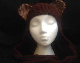 Animal Ear Hat - Brown Bear