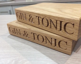 Personalised Mini G&T Chopping Board