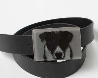 Fused Glass Bully Buckle