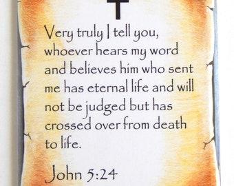 John 5:24 Bible Verse Fridge Magnet