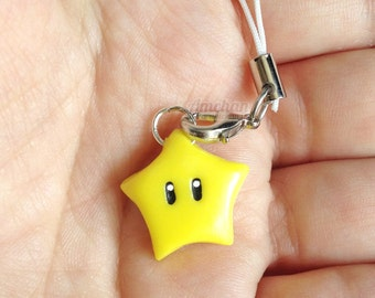 Mario Star Strap Charm