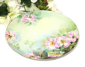Antique Hand Painted Haviland Limoges Salad Dessert Plate