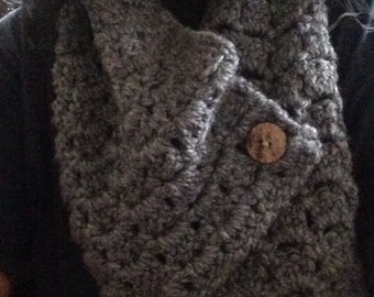 Margaret Button Cowl with Wooden Button